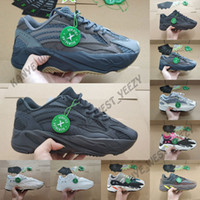ingrosso designer di scarpe atletiche-Scarpe da corsa 700 V2 2019 New Kanye West Vanta Static Reflective Mauve Wave Uomo Donna Athletic 700s Sports Sneakers Designer