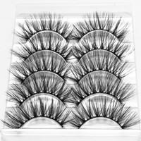Wholesale eyes makup resale online - 3D Mink False Eyelashes pairs Eye Lashes Extension Thick Nature Fake Eyelashes Nude Makup Tool