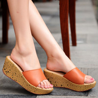 Wholesale sexy hot wedges shoes for sale - Group buy Hot Sale Women Shoes Summer Women Flat Platform Slippers Sexy High Heels CM Sexy Wedges Slippers Non slip Travel Sandal Shoes