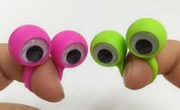 çocuklar parmak kuklaları toptan satış-500 ADET Göz Parmak Kuklaları Wiggle Gözler ile Plastik Yüzükler Parti Çocuklar için Çeşitli Hediye Oyuncaklar Pinata Dolgu Doğum Günü ...