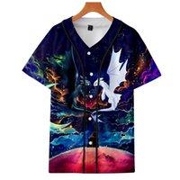 бейсбольная футболка печать оптовых-BTS Как приручить дракона 3D-бейсбольные футболки с принтом для женщин и мужчин Футболки с коротким рукавом и модой 2019 года