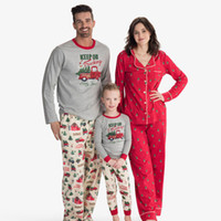 conjuntos de pijamas de navidad familiar al por mayor-Family Pack Trajes de Navidad Impreso fiesta informal de Navidad Equipamiento del hogar familiar Mismo vestido Christma pijamas de 07