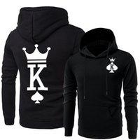 passendes sweatshirt großhandel-Paare Passende Kleidung Männer Frauen Königin König Hoodies Designer Hoodys