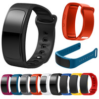 sport armband armbanduhr großhandel-Für Samsung Gear Fit 2 SM-R360 Uhr Armband Uhrenarmband Sport Silikon Uhr Ersatz Armband Armband Armband