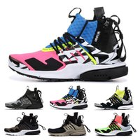 Wholesale good running shoes for women resale online - Good ACRONYM x Lab high Presto Mid Running Shoes For Men Women Top items Pink Blue White Green acronym prestos Trainers Eur