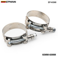 "turbos kits groihandel-EPMAN 2ST NEW 2,25"" Zoll (60 mm-68MM) SILICONE TURBO Schlauchverschraubung T BOLT SUPER CLAMP KIT EP-KG60"