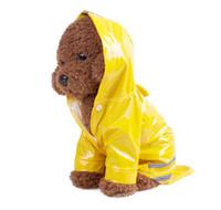 amerikanischer kleiderpullover groihandel-Dog Raincoat Pet Poncho mit Kapuze Regenjacke für kleine Hunde
