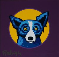 Wholesale dog oil paintings canvas resale online - George Rodrigue Blue Dog Bullseye Home Decor Handcrafts HD Print Oil Painting On Canvas Wall Art Canvas Pictures
