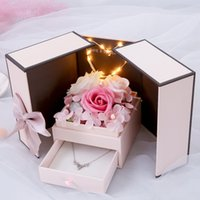 Wholesale lowest price gift boxes for sale - Group buy Hot Sale Soap Rose Gift Box Rose Artificial Jewelry Storage Box New Year Gifts for Women Valentines Gift Christmas Low price