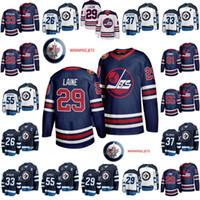 Wholesale hockey 33 resale online - 55 Mark Scheifele Jersey Blake Wheeler Dustin Byfuglien Patrik Laine Kyle Connor Winnipeg Jets Hockey Jerseys Navy White
