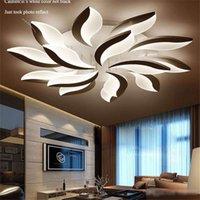 ingrosso led luci plafond-Luci di soffitto di nuovo disegno acrilico principali moderne per soggiorno di studio da letto lampe plafond Avize Lampada da soffitto coperto