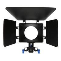 Wholesale focus rail resale online - M1 Plastic DSLR Matte Box for mm Rail Rod Support Follow Focus System Canon D90 D D D D D Nikon DSLR Cameras