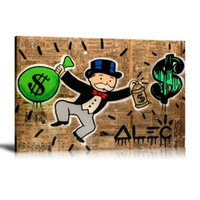 Wholesale monopoly art for sale - Unframed Framed Alec Monopoly Money Home Decor HD Printed Modern Art Painting on Canvas x24