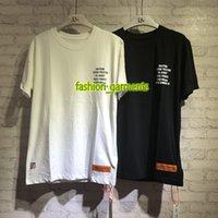 adam atma toptan satış-2019 Yeni Heron Preston erkek Dökme Demir T-Shirt Erkek Tasarımcı T-Shirt Kadın Yüksek Kaliteli T-Shirt Kısa Kollu Ile Çiftler