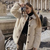 Wholesale teddy girls for sale - Group buy Ins Hot Women Winter Solid Teddy Bear Jackets Coat Ladies Thicken Warm Outerwear Girls Loose Lambswool Faux Fur Jacket Overcoats