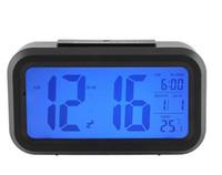 mesas de cubo con luz led al por mayor-Alarma CHUN 2019 Mute reloj digital inteligente Nightlight del sensor de luz LED relojes de mesa con pantalla LCD Función de plástico del reloj multi 14zj BB