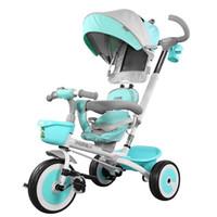 carrinho de passeio inflável venda por atacado-Portátil dobrável bicicleta do bebê da bicicleta do bebê do bebê bicicletas de três rodas carrinho de criança livre artefato inflável babystroller