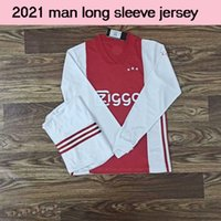 Wholesale long sleeve soccer jersey set for sale - Group buy 2021 Ajax adult soccer longsleeve PROMES long sleeve ajax Soccer Jersey shirts VAN DE BEEK NERES Football training Sets on sales