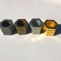 cajas redondas de anillos al por mayor-Anillo mágico de autodefensa Anillos redondos hexagonales de Bardian para el boxeo Equipo de protección Multiuso Fingerstall Metal Color 9 9bq E1