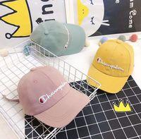 Wholesale kids embroidery hats resale online - kids Baseball Cap Adjustable Letter Embroidery Snapback Hat Hip Hop Casual Unisex Sun Hat Outdoor cap KKA7147