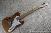 Wholesale electric guitar s resale online - SDFE Top Quality USA s Telecaster Thinline Natural Electric Guitar
