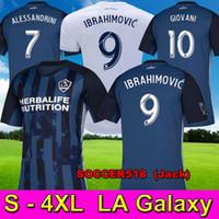 beckham galaxy jersey venda por atacado-S - 4XL LA Galaxy IBRAHIMOVIC 2019 azul camisas de futebol GIOVANI camisas de futebol ALESSANDRINI DOS SANTOS maillot de pé LLEGET BECKHAM