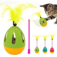 sondaj değnekleri toptan satış-Köpek Kedi Pet Oyuncak Ses Squeak Topu Oyuncaklar IQ Eğitim Oynarken Çan Köpekler ile Tırmalama Kediler Değnek ve