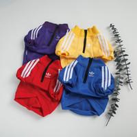Wholesale color costume resale online - Fashion Brand Dog Hoodies New Stripe Letter Designer Sport T shirt For Pet Simple Pure Color Zipper Pet Hoodies