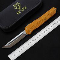 cuchillos vespa al por mayor-Cuchillos automáticos VESPA de alta calidad M390 Blade 7075Aluminum + TC4 Mango caza exterior caza táctica de supervivencia EDC herramientas auto cuchillo de bolsillo
