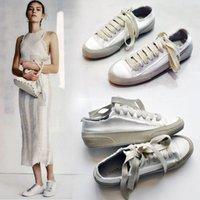 плоская обувь korea новый оптовых-2018 новые шелковые атласные шелковые ботинки холстины Корея старые туфли плоские белые женские