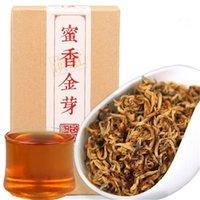 hoja de oro de china al por mayor-Yunnan Té Negro 100g Fengqing Dianhong Kung Fu chino té rojo principios de la primavera de la miel de la fragancia Brotes de oro grandes hojas de té rojo