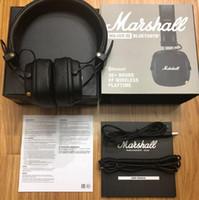 kopfhörer kopfhörer hifi bass großhandel-Marshall Monitor Bluetooth Faltbare Kopfhörer mit MIC Leder Noise Cancelling Deep Bass Stereo-Kopfhörer-Monitor DJ-HiFi-Kopfhörer-Telefon