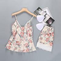 Wholesale lure women resale online - Women Intimates Girl Lingerie Sleepwear Tops Shorts Padded Lace Floral Appeal Lure Cute Underwear