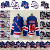 jersey de hielo negro patrice bergeron al por mayor-New York Rangers Jerseys Hockey Artemi Panarin Mika Zibanejad Kaapo Kakko Henrik Lundqvist Messier Chris Kreider Gretzky Brady Skjei Hayes
