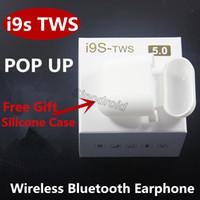 xiaomi akıllı telefonlar toptan satış-I9s tws kablosuz bluetooth 5.0 kulaklıklar stereo Kulaklık manyetik şarj vaka ile iphone Samsung Xiaomi Akıllı Telefonlar için kulakiçi Kulaklık