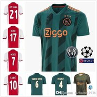 Wholesale grey blinds resale online - 2019 Ajax soccer jersey ajax fc home away DE JONG DE LIGT VAN DE BEEK NERES Ziyech Huntelaar Blind football shirts