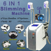 Wholesale cryolipolysis fat freeze machines body slimming lipolaser cavitation RF cryolipolysis cellulite removal machines cryo handles