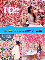 Wholesale flower wall panels for sale - Group buy Artificial Silk Flower Wall Panel White Flowers Hydrangea Wedding Decoration Wedding Party Backdrop Decor Wedding Florals Freeshipping