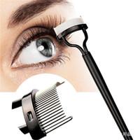 encrespador de sobrancelhas venda por atacado-Make up Mascara Guia Aplicador Pestana Pente Sobrancelha Escova Curler Ferramenta