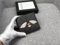 Wholesale note folding covers resale online - new fashion low price designer female PVC leather wallet ladies and women short folding wallet man wallets size cm2