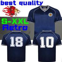 ingrosso scozia case-1982 Scozia retro soccer jersey home blu world cup 82 83 Dalglish Strachan Miller Souness Hansen George Wood maglie calcio S-xxl