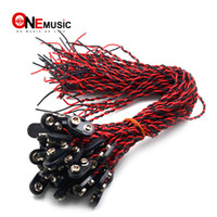 Wholesale guitar 9v for sale - Group buy 100pcs Guitar Bass Active Pickup Volt Battery Cover Box Connect Cable V Battery Cable Guitar Accessories