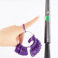 ringgrößenmesswerkzeug großhandel-Modeschmuck Werkzeuge Ring Größe Dorn Stick Finger Gauge Ring Sizer Mess Schmuck Tool Set Top Qualität Schmuck Werkzeuge