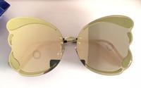 kelebek kutuları toptan satış-Lüks Için 08A Güneş Gözlüğü Womens Tasarımcı Çerçevesiz metal bacak Kelebek tarzı Moda Şemsiye gözlük eğilim asil gözlük ile orijinal kutu