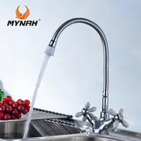 cuisine de choix achat en gros de-MYNAH Kitchen Faucet Russia livraison gratuite classique robinet de cuisine double contrôle multi couleur choix de multi angle conversion libre