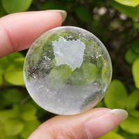 ingrosso sfere di cristallo bianco-Trasporto libero 1pcs naturale bianco trasparente cristallo di quarzo sfera sfera guarigione pietra preziosa collezione sfera di cristallo