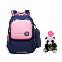 Wholesale pink korean backpacks resale online - OKKID children school bags for girls cute korean style pink bag orthopedic school backpack waterproof light weight bookbag gift