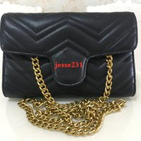 Wholesale pure white handbags resale online - High Quality Designer women Pu Leather Fashion Small Gold Chain Bag Cross body Pure Color Handbag Shoulder Messenger Bags cm cm cm