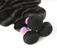 pelo virginal real envío gratis al por mayor-32inch Body wave peruvian human hairs cabello real Weave Bundles Virgin Hair wholesale Envío gratis