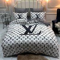 Wholesale fleece bedding duvet sets resale online - Hot Sale Letter Bedding Sets Europe and America Autumn And Winter Bedding Suit Fashion High Quality Comforter Cover Sets